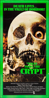 """Tales from the Crypt (CIC, 1972). Folded, Very Fine-. British Three Sheet (39.75"""" X 79""""). Horror"""