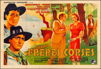The Corsican Brothers (Frères corses) (Distribution Européenne, 1939). Fine/Very Fine on Linen. French Hor...