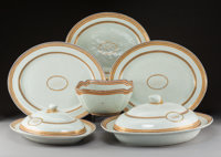 An Eight-Piece Chinese Export Porcelain Service, late 18th century 2-1/2 x 17-3/4 x 15 inches (6.4 x 45.1 x 38.1 cm) (la...