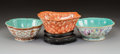 Ceramics & Porcelain:Chinese, A Group of Three Chinese Enameled Porcelain Bowls, 19th century. Marks: Four-character Guangxu Nian Zhi mark (camel bowl); S... (Total: 3 Items)