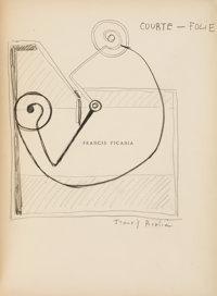 [Francis Picabia]. Marie de la Hire, FRANCIS PICABIA. Paris: La Cible Gallery, [1920]. First edition