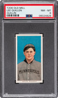 Baseball Cards:Singles (Pre-1930), 1909-11 T206 Old Mill Lee Quillin PSA NM-MT 8 - Pop One, None Higher for Brand! ...