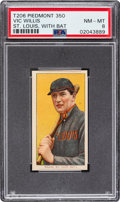 Baseball Cards:Singles (Pre-1930), 1909-11 T206 Piedmont 350 Vic Willis (With Bat) PSA NM-MT 8 - Pop Two, None Higher. ...