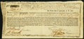 Colonial Notes:Massachusetts, Massachusetts Treasury Certificate £294 6s 3p January 1, 1780 Anderson MA-22 Very Fine. . ...