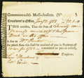 Colonial Notes:Massachusetts, Massachusetts Treasury Tax Collector's Certificate £2...