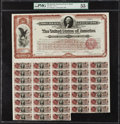 $20 Spanish-American War 1898 Coupon Bond Hessler X188G PMG About Uncirculated 55 EPQ