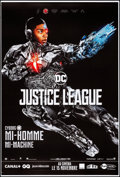 "Movie Posters:Action, Justice League (Warner Brothers, 2017). Rolled, Very Fine. FrenchGrande (46.5"" X 69"") DS Advance, Cyborg Style. Acti..."