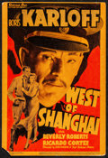 "Movie Posters:Adventure, West of Shanghai (Warner Brothers, 1937). Fine+. Trimmed LinenFinish Midget Window Card (8"" X 12""). Adventure.. ..."