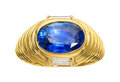 Estate Jewelry:Rings, Ceylon Sapphire, Diamond, Gold Ring. ...