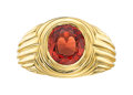 Estate Jewelry:Rings, Burma Spinel, Gold Ring, Carvin French. ...