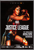 "Movie Posters:Action, Justice League (Warner Brothers, 2017). Rolled, Very Fine+. FrenchGrande (46.75"" X 69"") DS Advance, Wonder Woman Style. Act..."