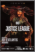 """Movie Posters:Action, Justice League (Warner Brothers, 2017). Rolled, Very Fine+. FrenchGrande (46.5"""" X 69"""") DS Advance, Aquaman Style. Action.. ..."""