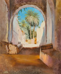 Paintings:Contemporary   (1950 to present), S. Sharota (American, 20th Century). Desert Courtyard, 2003. Oil on canvas. 41-1/2 x 35 inches (105.4 x 88.9 cm). Signed...
