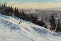 Prints & Multiples, After Churchill Ettinger (American, 1903-1984). Skier in Vermont. Offset lithograph in colors on paper. 17-3/4 x 25-1/2 ...