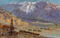 Paintings:Contemporary   (1950 to present), Glen Spencer Hopkinson (American, b. 1946). Mule Train. Oil on canvas. 13 x 20 inches (33.0 x 50.8 cm). Signed lower rig...