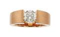 Estate Jewelry:Rings, Colored Diamond, Rose Gold Ring . ...