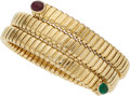 Estate Jewelry:Bracelets, Ruby, Emerald, Gold Bracelet . ...