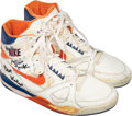 Basketball Collectibles:Others, Circa 1989-90 Mark Jackson Game Worn & Signed Sneakers....