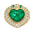 Estate Jewelry:Rings, Colombian Emerald, Diamond, Gold Ring, Frederick Modell, Inc. . ...
