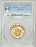 Canada: George V gold Sovereign 1911-C MS62 PCGS