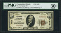 National Bank Notes:Illinois, Champaign, IL - $10 1929 Ty. 1 The Champaign NB Ch. # 2829 PMG Very Fine 30 EPQ.. ...