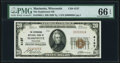 National Bank Notes:Wisconsin, Marinette, WI - $20 1929 Ty. 1 The Stephenson NB Ch. # 4137 PMG Gem Uncirculated 66 EPQ.. ...