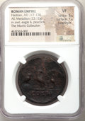 Ancients:Roman Imperial, Ancients: Hadrian (AD 117-138). AE medallion (34mm, 23.12 gm, 12h). NGC VF 5/5 - 1/5, Fine Style. ...