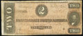 Confederate Notes:1864 Issues, T70 $2 1864 Advertising Note Very Good-Fine.. ...