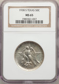 1938 SET PDS Texas Half Dollar Set, MS65 NGC. The coins are individually holdered. The Philadelphia coin is Ex: Richmond...