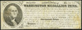 Obsoletes By State:Mixed States, (Unknown Location) - Washington Medallion Pens Advertising Note/Lottery Ticket $100 ND (ca. 1860s-early 1870s) Fine.. ...