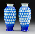 Glass:Chinese, A Pair of Chinese Peking Glass Vases, early 20th century . 11-1/4 x 5-1/4 inches (28.6 x 13.3 cm) (each). ... (Total: 2 Items)