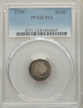 Early Half Dimes, 1795 H10C V-5, LM-8, R.3, Fine 12 PCGS....