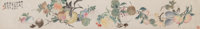 Qian Juchao (Chinese, 1806-1860) Floral, 1859 Handscroll, ink and color on paper 19-3/4 x 7-3/8 i