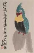 Prints & Multiples:Chinese, After Qi Baishi (Chinese, 1864-1957) . Six Prints . Color block prints on paper. 11-1/4 x 7-1/4 inches (28.6 x 18.4 cm) ... (Total: 3 Items)