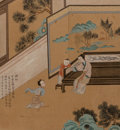 Paintings:Chinese, Chinese School (late Qing Dynasty). Set of Six Works illustrating The West Chamber . Hanging scrolls, ink and color on s... (Total: 6 Items)