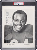 Autographs:Photos, 1970's Walter Payton Signed Team Issued Photograph, PSA/DNA NM-MT 8....