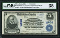 National Bank Notes:Ohio, Cleveland, OH - $5 1902 Plain Back Fr. 607 Brotherhood of Locomotive Engineers Co-Operative NB Ch. # 11862 PMG Choice ...