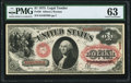 Large Size:Legal Tender Notes, Fr. 26 $1 1875 Legal Tender PMG Choice Uncirculated 63.. ...