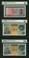 Egypt National Bank of Egypt Five Examples PMG Graded