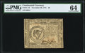 Colonial Notes:Continental Congress Issues, Continental Currency November 29, 1775 $8 PMG Choice Uncirculated 64.. ...