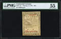 Colonial Notes:Continental Congress Issues, Continental Currency February 17, 1776 $2/3 PMG About Uncirculated 55.. ...