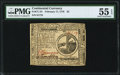 Colonial Notes:Continental Congress Issues, Continental Currency February 17, 1776 $2 PMG About Uncirculated 55 EPQ.. ...