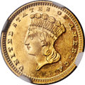 Proof Gold Dollars, 1867 G$1 PR61 Cameo NGC. JD-1, High R.6....