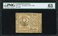 Colonial Notes:Continental Congress Issues, Continental Currency November 2, 1776 $30 PMG Choice Uncirculated 63.. ...