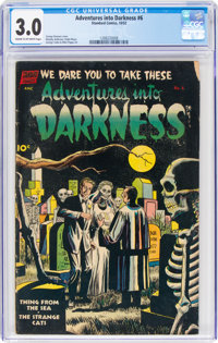 Adventures Into Darkness #6 (Standard, 1952) CGC GD/VG 3.0 Cream to off-white pages