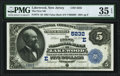 National Bank Notes:New Jersey, Lakewood, NJ - $5 1882 Value Back Fr. 574 The First National Bank Ch. # (E)5232 PMG Choice Very Fine 35 EPQ.. ...