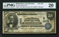 National Bank Notes:Pennsylvania, Williamsport, PA - $50 1902 Date Back Fr. 667 The West Branch NB Ch. # (E)1505 PMG Very Fine 20.. ...