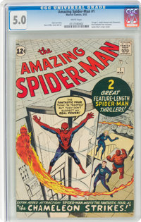 The Amazing Spider-Man #1 (Marvel, 1963) CGC VG/FN 5.0 White pages