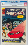 Silver Age (1956-1969):Superhero, The Amazing Spider-Man #22 (Marvel, 1965) CGC FN- 5.5 White pages....