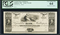 Obsoletes By State:Maryland, Baltimore, MD- Franklin Bank of Baltimore $100 18__ Proof G128 Shank 5.75.42P PCGS Very Choice New 64.. ...